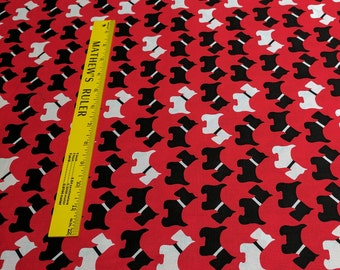 Urban Zoologie-Scottie Dogs-Cotton Fabric by Anne Kelle for Robert Kaufman Fabrics