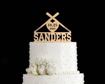 baseball wedding cake topper etsy