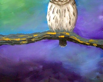 PRINT, Owl Painting, Where There Is No Path