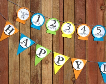 Pendant First Birthday Banner Set | Boy Birthday Banner| Birthday Party Decoration Set