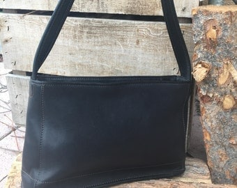 Vintage Coach Bag / Coach Bag  / Coach Tote / Coach Purse / Coach Style 9309 / Black Leather