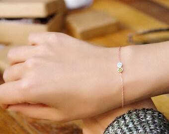 Custom Birthstone Bracelet, Birthstone Bracelet, Personalized Birthstone Bracelet, Personalized Couples Bracelet, Bracelet For Her, Bracelet