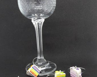 Wine Glass Charms - Cake Slices
