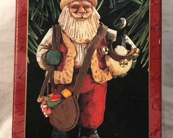 "Hallmark 1997 Folk Art Americana Collection Keepsake Ornament ""Santa's Merry Path"