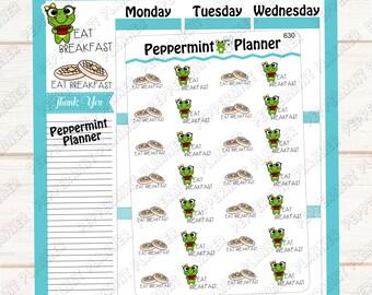 Eat Breakfast --- Reminder --- Planner Stickers --- Tracker --- 630