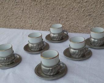 Old coffee Metalars Peltro 1960's Tin signed 95% Service