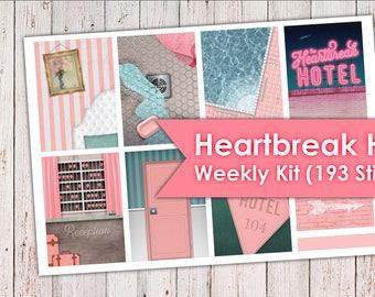 Heartbreak Hotel Weekly Kit | Erin Condren Planner Stickers 193 Stickers