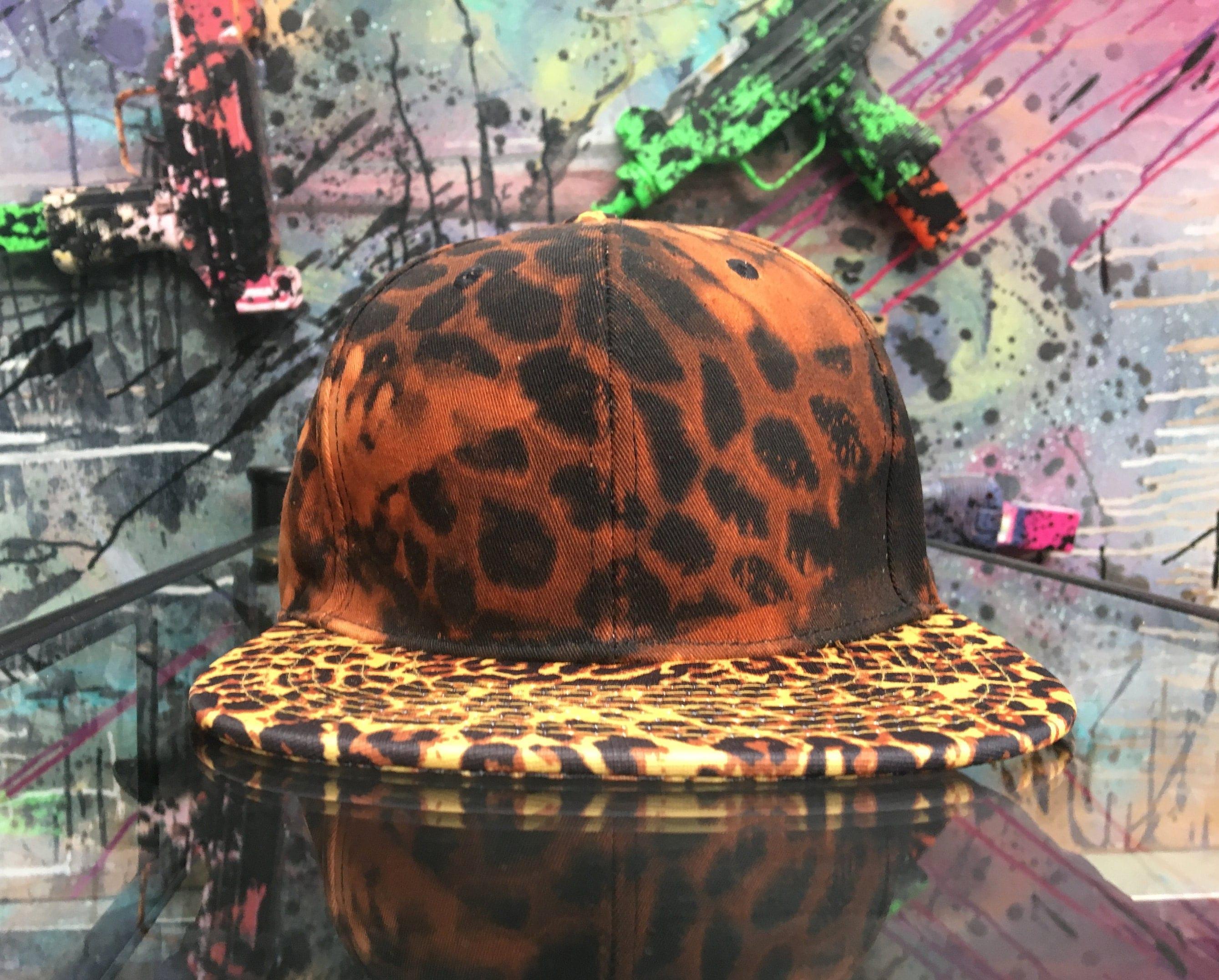 851fc98b822 Cheetah Print Custom Style    Trucker Cap    Baseball Hat    Safari Animal