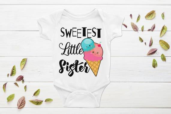 Sweetest Little Sister Onesie | Little Sister Outfits | Sibling Shirt | Little sister onesie, little sister outfit, little sister shirt