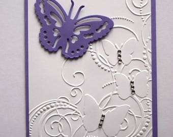Miss you card - Birthday - Sympathy - Mother's Day - Thinking of you - butterfly - anniversary - any occasion card - Thank you - cheer up