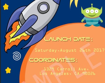 Outer Space Styled Invitation