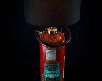 Vintage 1960s Bright Red Fire Extinguisher light