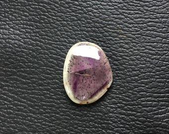 27x21x6 mm Rare Moss Amethyst Cabochon Gemstone Unshaped One Side Handmade Polish Good Quality