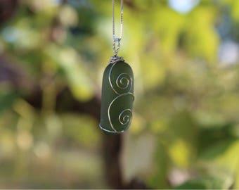 Green Glass Spiral