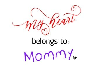My heart belongs to mommy svg cut file - other titles included