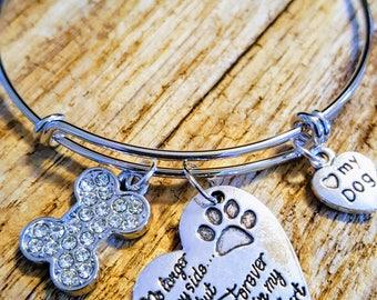 Pet Memorial, Remembrance Bracelet, Sympathy, Memorial Keepsake Charm Bracelet, dog mom, pet bereavement, cat mom
