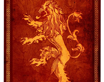 Lannister lifesize banner, Game of Thrones