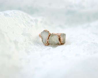 Rose Quartz | Electroformed Copper Ring US 5 1/2