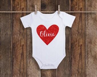 Custom Valentines Onesie, First Valentines Day Baby Girl, Baby Girl Onesie, 1st Valentines Day, Valentines Day Baby, Valentines Day Onesie