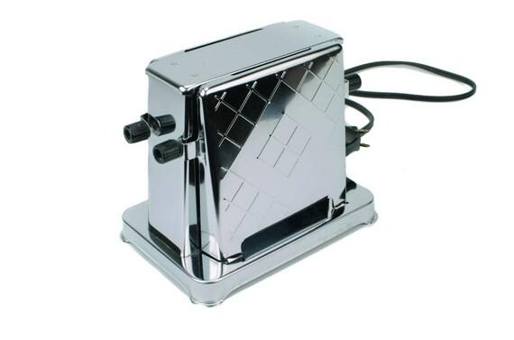 Art déco grille-pain grille-pain chromé Vintage chrome
