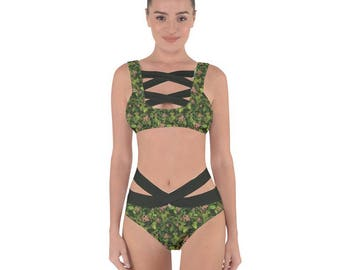 Baby Groot Bandage Bikini - Guardians of the Galaxy Swimsuit Cosplay Swimsuit Sci-Fi Swimsuit Avenger Swimsuit Baby Groot Bathing Suit