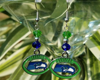 Seattle Seahawks Football Earrings