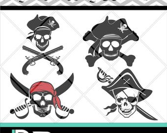 Pirates svg, Skull svg, Silhouette svg, Pirates Clipart, Svg Files for Cricut,png files,svg files for Silhouette, Cutting Files