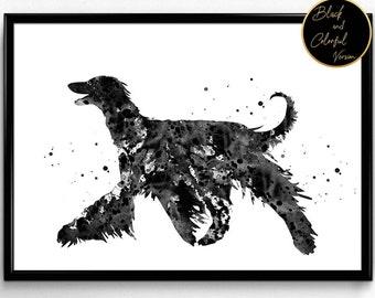 Afghan Hound Art, Dog,Watercolor, Animal art, gift, Watercolor, Poster, Room Decor, print, wall art (788)