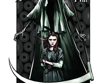 Game of Thrones Arya Stark Death Tarot Poster