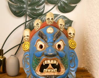 Carved wooden - Bhairab Wooden mask Bhairab mask