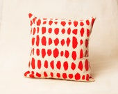Ovals throw pillow case - Nursery Decor, Kid Pillow, kids room, Pillow printed in Scarlet 16x16