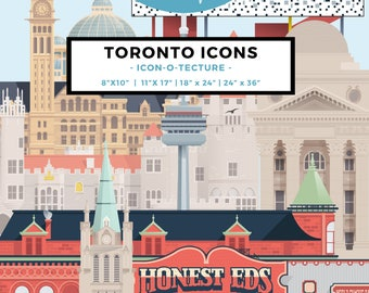 Toronto Icons Poster | IconOTecture
