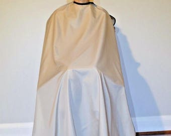 "TrendingTools2 SNAP BUTTON Enclosure Hair Cutting Cape Salon Barber Stylist Styling Cape ""Khaki"" Size-Large"