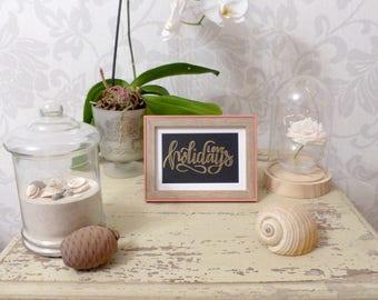 Love Holidays - Oil painting Golden - handmade