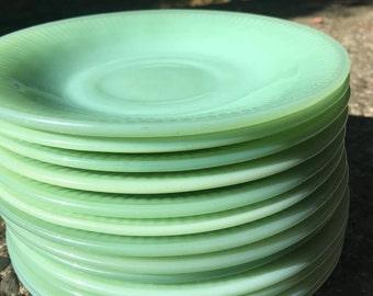 Jadeite - Fire King - Jadeite Plate - Jade - Vintage Jadeite - Saucers - Anchor Hocking -Green - Vintage