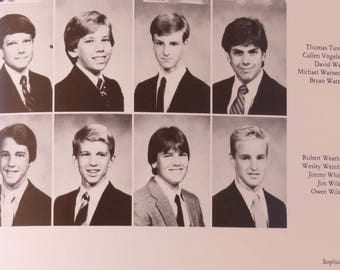 Luke & Owen Wilson Brothers 1985 High School Yearbook The Marksmen St. Marks Texas Celebrity Collectible Book