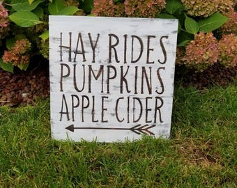 Hand made reclaimed wood pallet style sign perfect addition to your home's fall decor