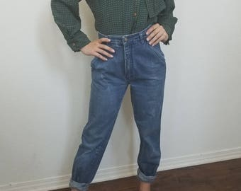 Vintage 80s jeans. Taboo. High waisted jeans. Hipster. Size small.
