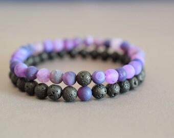 Long distance relationship bracelet matching bracelet his her couples bracelet mens friendship bracelet