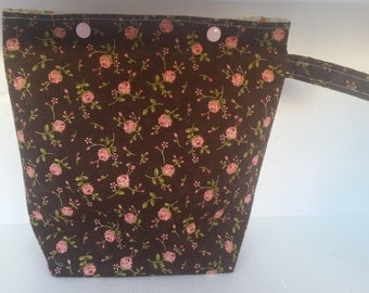 Snap Lock Medium project bag 'Pink Roses'