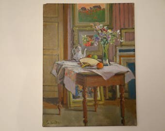 oil painting signed by Gabriel Contant - famous paintor - painting Studio - #2