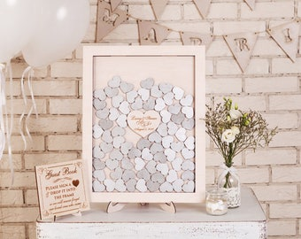 Personalised wedding drop box Drop Top Wedding Guest Book