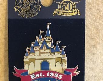 Disneyland Est. 1955 Pin Cinderellas Castle by Disney