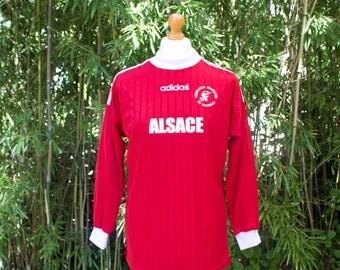 Retro Adidas Federation Francaise De Football Long Sleeved Top - Size Medium