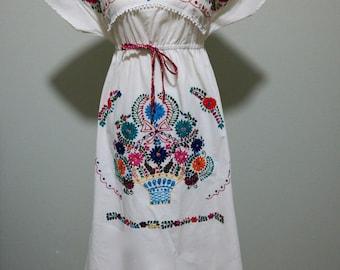 Veronica Prida Fiesta Embroidered Dress-Size M