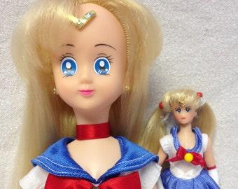 Vintage Irwin 16'' Sailor Moon Doll + 6'' Sailor moon doll