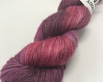 Hand Dyed Yarn Oddball Purple & Burgundy Variegated 100g Hank Approx 225m DK Double Knitting 80/20% Superwash Merino/Bamboo Mulesing Free