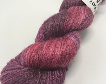 Hand Dyed Yarn Oddball Purple & Burgundy Variegated 100g Hank Approx 225m DK Double Knitting 80/20% Superwash Merino/Bamboo Mulesing Free