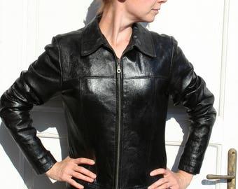 Leather jacket, black leather jacket, leather jacket womens, leather coat, leather jacket fitted, black jacket, real leather jacket