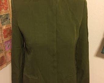 Vintage Olive Green Blazer
